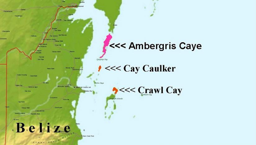Crawl Cay Karte